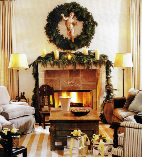 antique-french-farmhouse-limestone-fireplace-during-christmas-002-copy