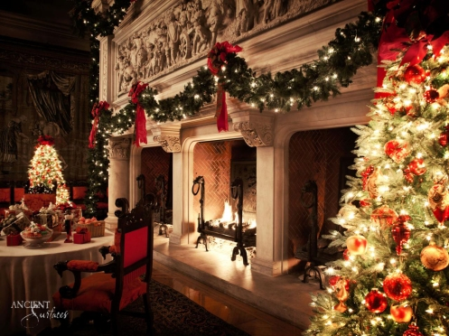 antique-french-farmhouse-limestone-fireplace-during-christmas-018-copy
