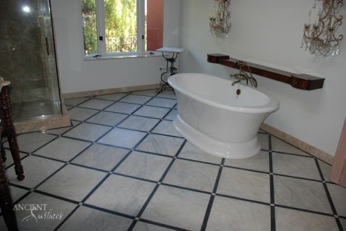 Antique Carrara Marble installed in Clients home-01 copy