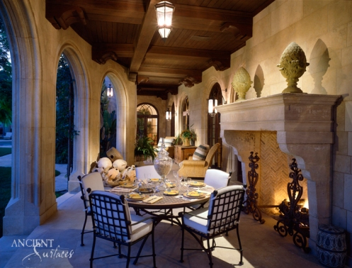 Outdoor patio fireplace copy