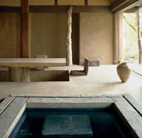Beautiful antique limestone pool coping