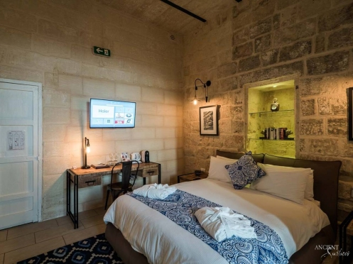 provence style bedroom wall cladding limestone