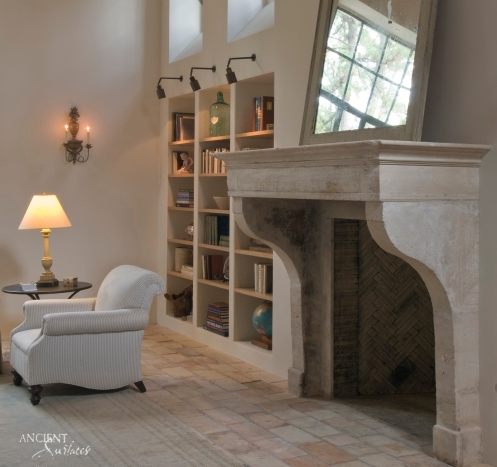 fireplace-limestone-antique