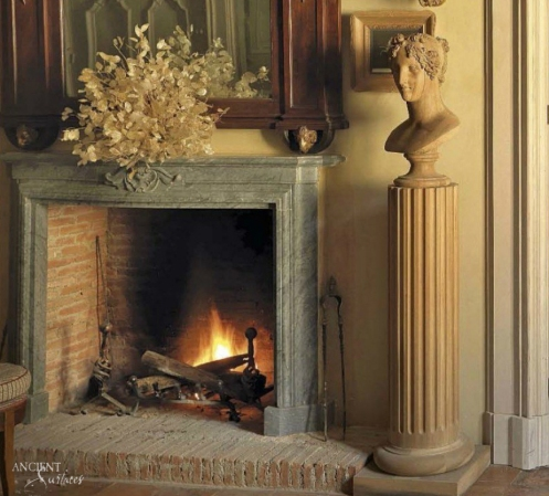 Limestone-fireplace-chimney-stone-antique