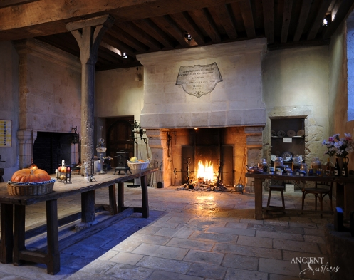 limestone-fireplace-in-french-country-house