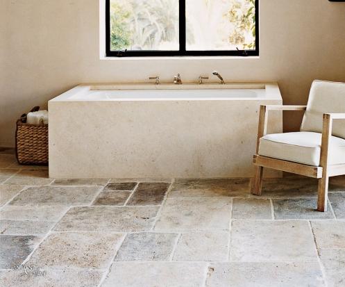 antique limestone pavers